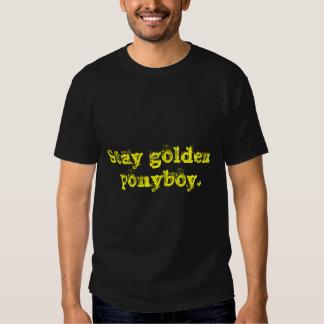 Stay golden ponyboy. shirt