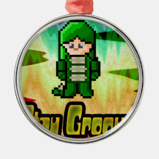 stay Groovy Metal Ornament