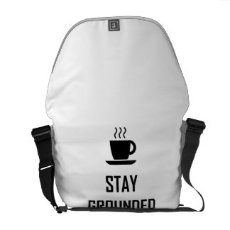 Stay Grounded Coffee Drinker Courier Bag