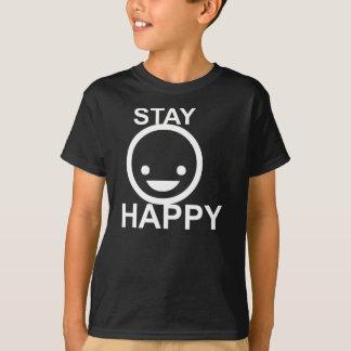 STAY HAPPY Design Kids Shirt