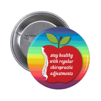 Stay Healthy (Apple) Chiropractic Buttons Flair