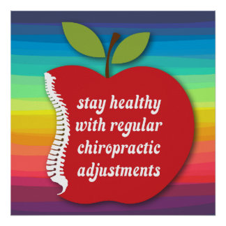 Stay Healthy (Apple) Chiropractic Poster