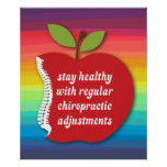 "Stay Healthy (Apple) Chiropractic Poster 20"" x 24"""