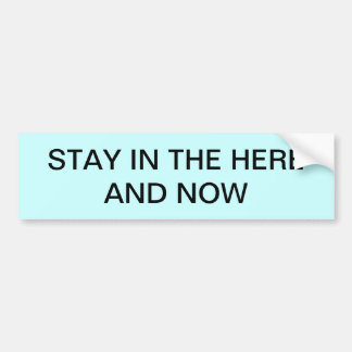 STAY HERE AND NOW CAR BUMPER STICKER