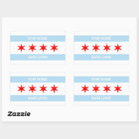 Stay Home Save Lives Chicago Flag Chicago Stickers
