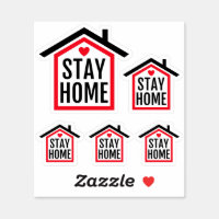 Stay home stay safe sticker