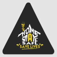 stay home stay safe / stickers / quarantine 2020