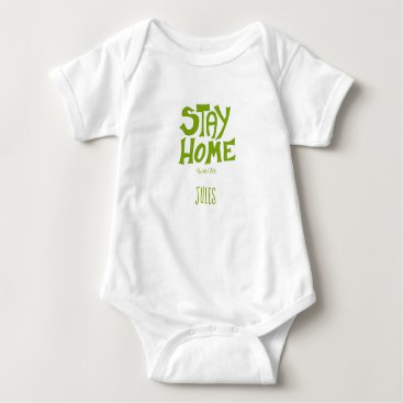 Stay Home, With me Baby Bodysuit