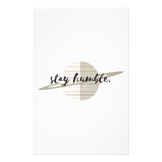 Stay Humble Planet Stationery