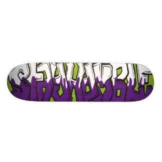 Stay Humble street art style graphic. Skateboard