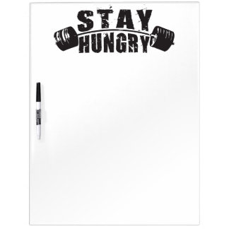 Stay Hungry - Bodybuilding Workout Motivational Dry-Erase Board