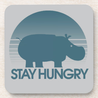 Stay Hungry Inspiration Beverage Coasters