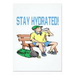 "Stay Hydrated 5"" X 7"" Invitation Card"