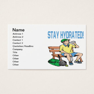 Stay Hydrated Business Card
