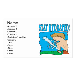 Stay Hydrated Business Card Templates