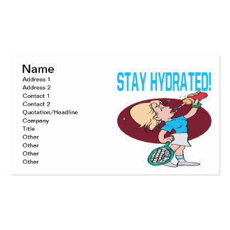 Stay Hydrated Business Card Template