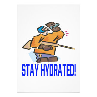 Stay Hydrated Personalized Announcement