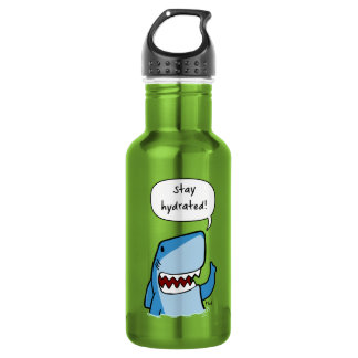 Stay hydrated stainless steel water bottle