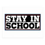 Stay In School Post Card