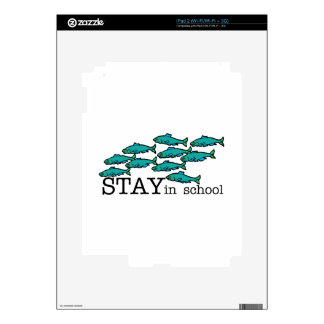 Stay In School iPad 2 Decal
