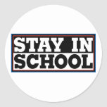 Stay In School Stickers