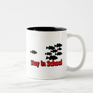 STAY IN SCHOOL Two-Tone COFFEE MUG