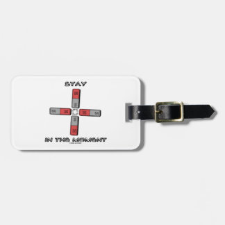 Stay In The Moment (Magnetic Quadrupole Moment) Bag Tag