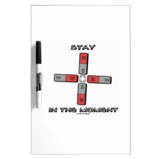 Stay In The Moment (Magnetic Quadrupole Moment) Dry Erase Boards