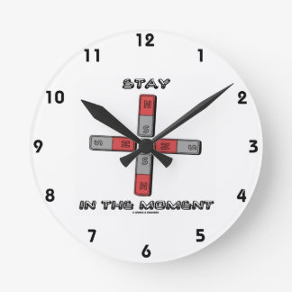 Stay In The Moment (Magnetic Quadrupole Moment) Round Clock