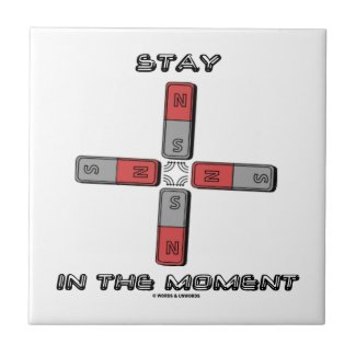 Stay In The Moment (Magnetic Quadrupole Moment) Ceramic Tiles