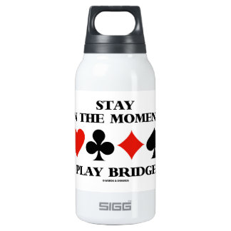 Stay In The Moment Play Bridge (Four Card Suits) Insulated Water Bottle