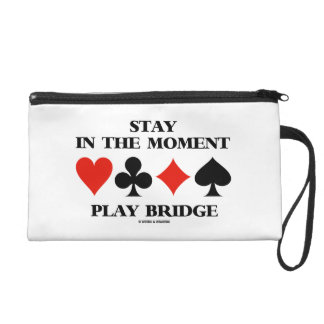 Stay In The Moment Play Bridge Four Card Suits Wristlet Purse