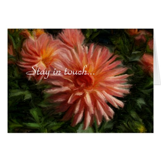 Stay in touch... greeting card