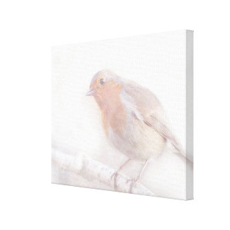 Stay, little cheerful Robin! Gallery Wrapped Canvas
