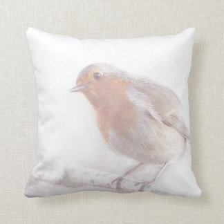 Stay, little cheerful Robin! Pillow
