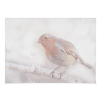 Stay, little cheerful Robin! Print