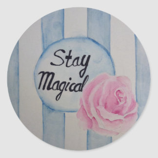 Stay magical classic round sticker