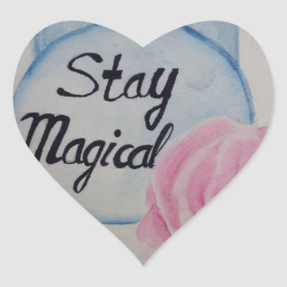 Stay magical heart sticker