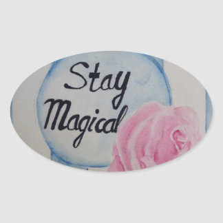 Stay magical oval sticker