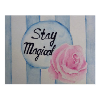 Stay magical postcard