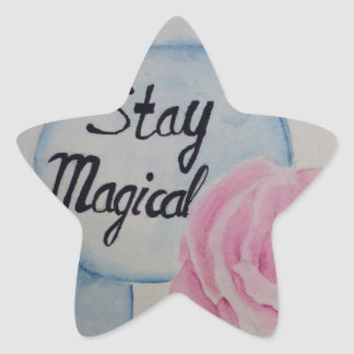 Stay magical star sticker
