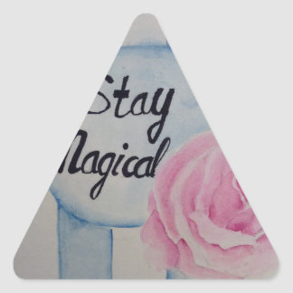 Stay magical triangle sticker