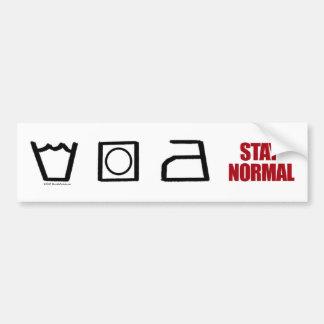 Stay Normal - bumper sticker