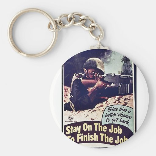 Stay On The Job To Finish The Job Key Chains