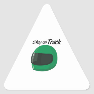 Stay On Track Triangle Sticker