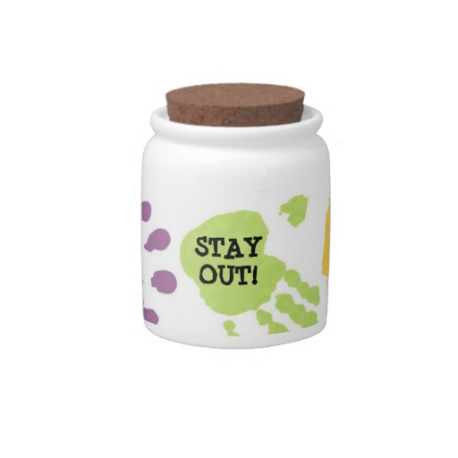 Stay Out Hands Candy/Cookie Jar Candy Dishes