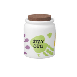 Stay Out Hands Candy/Cookie Jar Candy Jars