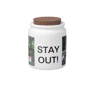 Stay Out Monkey Candy/Cookie Jar Candy Dishes