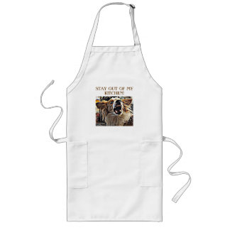 STAY OUT OF MY KITCHEN....ANGRY DOG LONG APRON