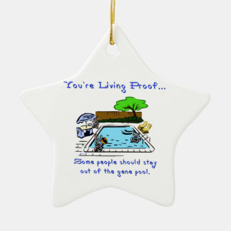 Stay Out of the Gene Pool Ceramic Ornament